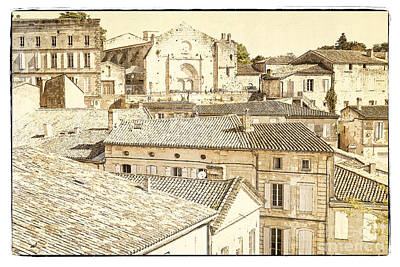 Architecture Photograph - The Rooftops Of Saint-emilion by Heiko Koehrer-Wagner