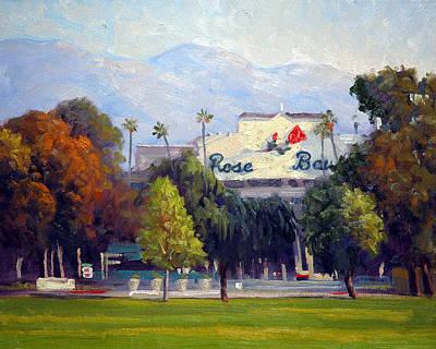 Pasadena Painting - The Rose Bowl by Armand Cabrera