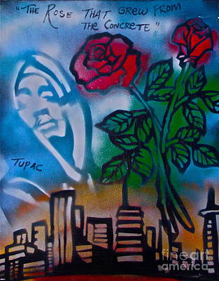 Liberal Painting - The Rose From The Concrete by Tony B Conscious