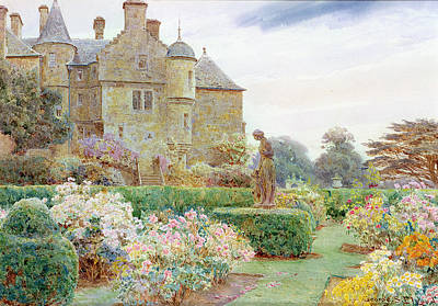 Anstruther Drawing - The Rose Garden, Balcaskie by George Samuel Elgood