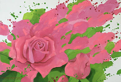 The Rose, In The Festival Of Light Print by Myung-Bo Sim