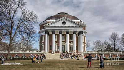 World Of Design Photograph - The University Of Virginia Rotunda by Terry Rowe
