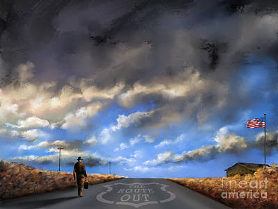 Landscapes Painting - The Route Out by Susi Galloway
