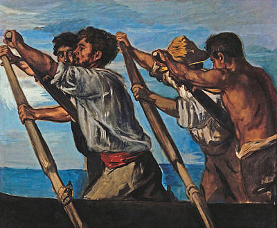 Hans Von Marees Painting - The Rowers by Hans von Marees