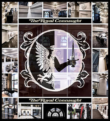 The Royal Connaught Crest Photo Collage Print by Shawn Dall