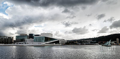 The Royal National Opera House In Oslo Norway Print by Frank Bach