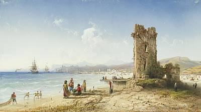 The Ruins Of Chersonesus Crimea Print by Celestial Images