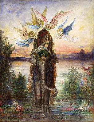 The Sacred Elephant Print by Gustave Moreau