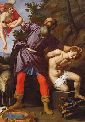 Father Painting - The Sacrifice Of Abraham by Cristofano Allori