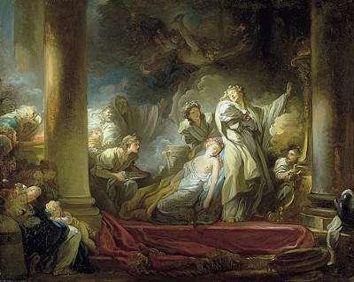 Jean-honore Fragonard Painting - The Sacrifice Of Callirrhoe by Jean-Honore Fragonard