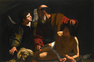 Bartolomeo Cavarozzi Painting - The Sacrifice Of Isaac by Bartolomeo Cavarozzi