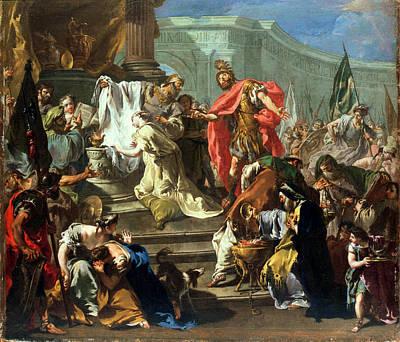The Sacrifice Of Jephthahs Daughter Print by Giovanni Battista Pittoni