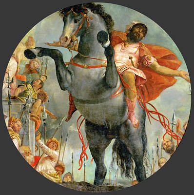 Marcus Painting - The Sacrificial Death Of Marcus Curtius by Paolo Veronese