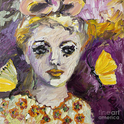 The Sadness In Her Eyes Print by Ginette Callaway