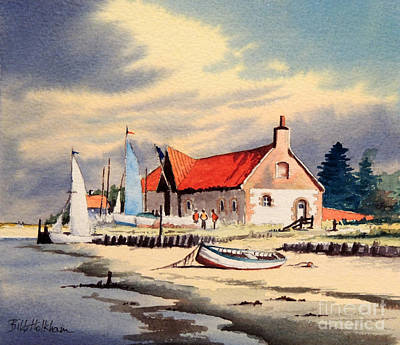 Navigation Painting - The Sailing Club  by Bill Holkham