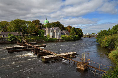 Angling Photograph - The Salmon Weir On The River by Panoramic Images