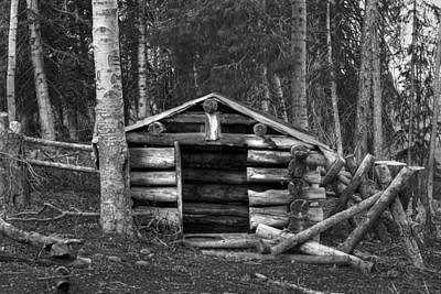 Log Cabin Photograph - The Salt Cache by TL  Mair