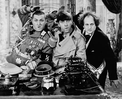 The Salute Print by The Three Stooges