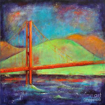 Golden Gate Mixed Media - The San Francisco Golden Gate Bridge by Johane Amirault
