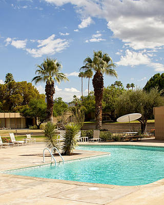 Lawn Chairs Photograph - The Sandpiper Pool Palm Desert by William Dey