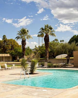 The Sandpiper Pool Palm Desert Print by William Dey
