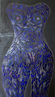 The Sapphire Woman Print by Alison Edwards