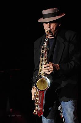 The Sax Man Print by Kenny Francis