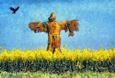 Impressionism Painting - The Scarecrow by George Rossidis