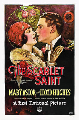 Ev-in Photograph - The Scarlet Saint, From Left Mary by Everett