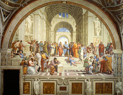 Greek School Of Art Painting - The School Of Athens by Raphael