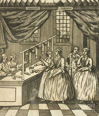 Toy Shop Photograph - The School Of Women, 17th Century by British Library