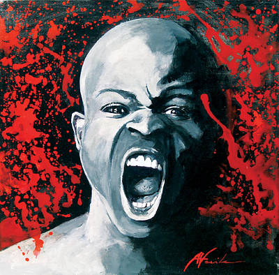 Shouting Painting - The Scream by Adriana Vasile