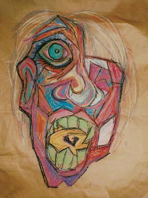 The Scream Print by Mike Manzi
