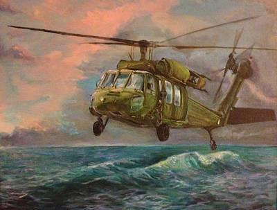 Blackhawk Painting - The Sea Hawk by Alicia Hicks