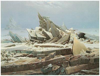 Caspar Painting - The Sea Of Ice by Caspar David Friedrich