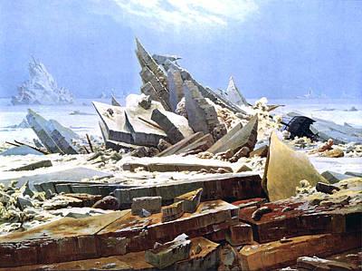 Caspar Digital Art - The Sea Of Ice Polar Sea by Caspar David Friedrich