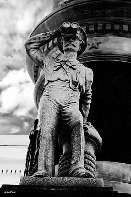 Marine Photograph - The Seaman IIi Black And White by Lesa Fine