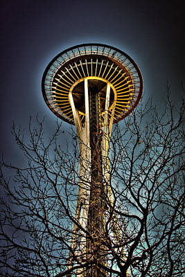 The Seattle Space Needle Iv Print by David Patterson