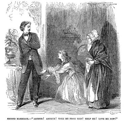The Second Marriage, 1866 Print by Granger