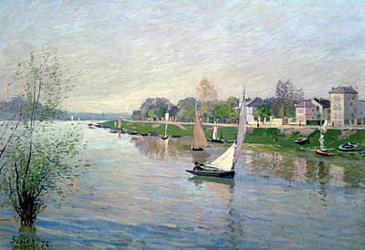 Sky Scape Painting - The Seine At Argenteuil by Alfred Sisley