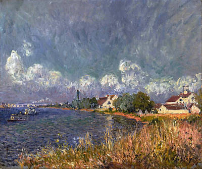 Alfred Sisley Painting - The Seine At Billancourt by Alfred Sisley