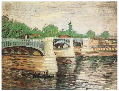 The Seine With The Pont De La Grand Jatte Print by Vincent Van Gogh