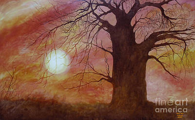 Baobab Painting - The Sentinel by Shirley Meyer