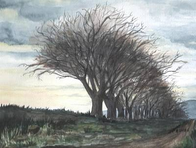 Maine Roads Painting - The Sentinels by Brenda Owen
