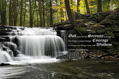 Christ Photograph - The Serenity Prayer by Christina Rollo