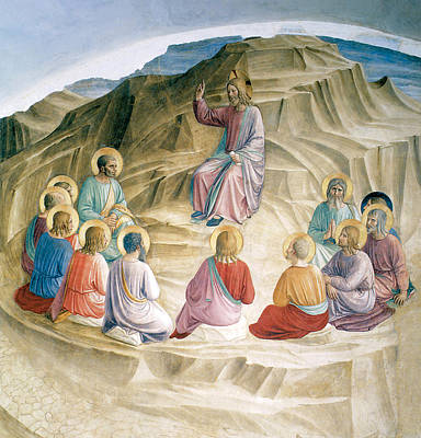 The Sermon On The Mount Print by Fra Angelico