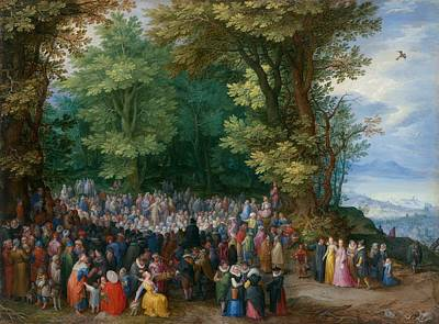 The Sermon On The Mount Print by Jan Brueghel the Elder
