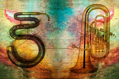 Ericamaxine Photograph - The Serpent And Euphonium -  Featured In Spectacular Artworks by EricaMaxine  Price