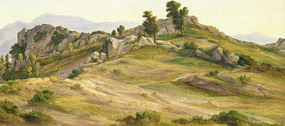 Italian Landscapes Painting - The Serpentara At Olevano by Joachim Faber