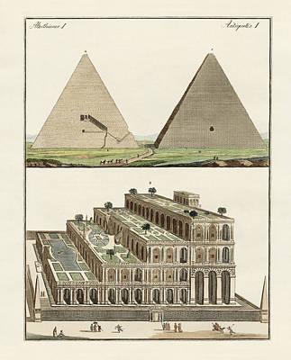The Seven Wonders Of The World Print by Splendid Art Prints